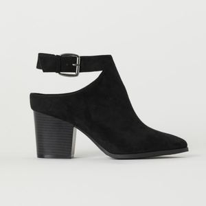 Faux seude ankle boots